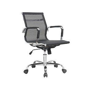 Cadeira Office Esteirinha Tela Preta