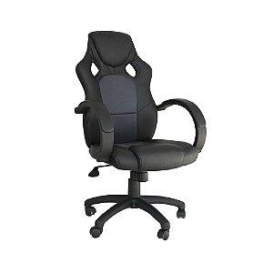 Cadeira Gamer Racer Preto com Cinza