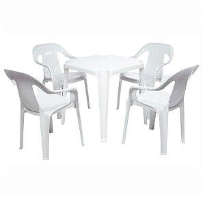 Conjunto de Mesa com Poltrona de plástico