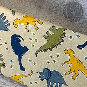 Tecido Dinossauros Caldeira 100% Algodão