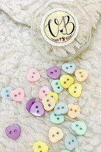 Botão Candy Colors Coração