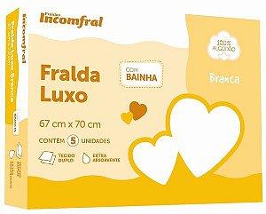Fralda Luxo com Bainha 67cm x 70cm 5 unidades 100% Algodão