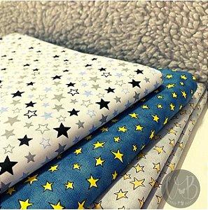 Tecido Estrelas Tricoline Caldeira 100% Algodão