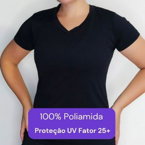 Camiseta Feminina - Modelo Lisa cor Preta