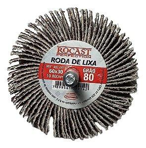 RODA DE LIXA 60X30 GR.80 ROCAST 4820011 ROCAST