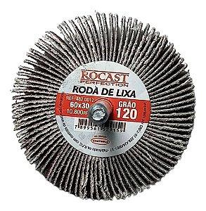RODA DE LIXA 60X30 GR.120 ROCAST 4820012 ROCAST