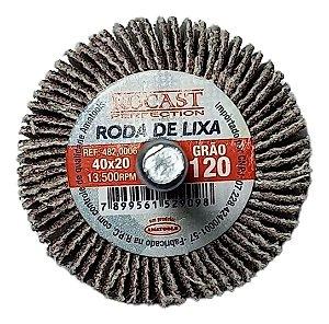 RODA DE LIXA 40X20 GR.120 ROCAST 4820006 ROCAST