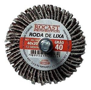 RODA DE LIXA 40X20 GR.40 ROCAST 4820004 ROCAST