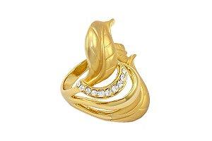 Anel dourado fosco