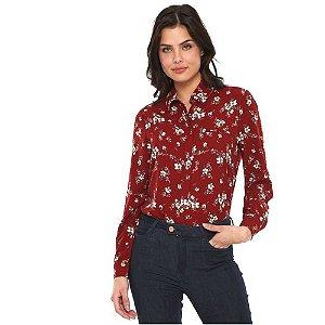Camisa Floral Vinho