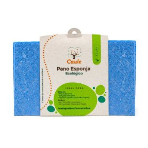 Pano Esponja Ecológico (Celulose e Algodão) Azul - Caule