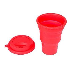 Copo de Silicone 480ml - Vermelho