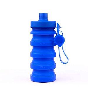 Garrafa de Silicone 400ml - Azul