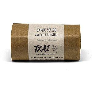 Shampoo em Barra Cabelos Secos Abacate e Gengibre - 65g