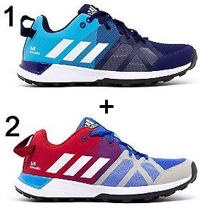 Kit 2 Tênis Adidas Kanadia Tr8 Marinho Azul + Azul Vermelho