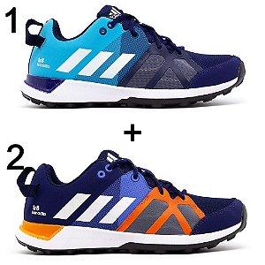 Kit 2 Tênis Adidas Kanadia Tr8 Marinho Azul + Marinho Laranja