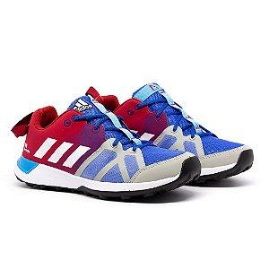 Tênis Adidas Kanadia TR8 Azul e Vermelho