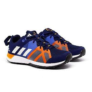 Tênis Adidas Kanadia TR8 Marinho e Laranja