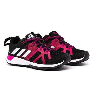 Tênis Adidas Kanadia TR8 Preto e Rosa