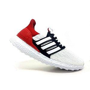 Tênis Adidas Ultraboost S&L Branco e Vermelho