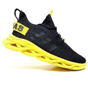 Tênis Adidas Yeezy Salt Preto e Amarelo