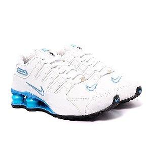 Tênis Feminino Nike Shox NZ Branco e Turquesa