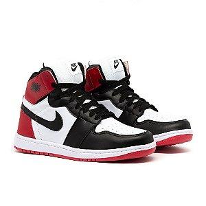 Tênis Nike Air Jordan 1 MID Branco e Vermelho