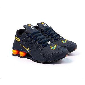 Tênis Nike Shox NZ Marinho e Laranja