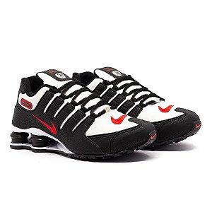Tênis Nike Shox NZ Preto e Vermelho