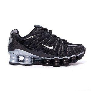 Tênis Nike Shox TLX 12 Molas Refletivo Premium Preto e Prata