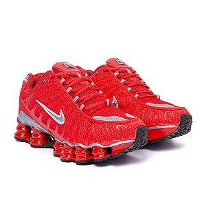 Tênis Nike Shox TLX 12 Molas Refletivo Premium Vermelho