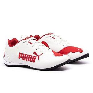 Tênis Puma Bmw Cat 2 Branco e Vermelho