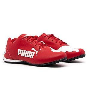 Tênis Puma Bmw Cat 2 Vermelho e Branco