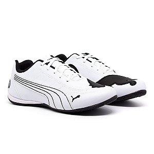 Tênis Puma Bmw Cat Branco e Preto