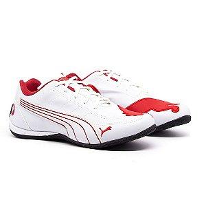Tênis Puma Bmw Cat Branco e Vermelho