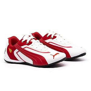 Tênis Puma Ferrari New Branco e Vermelho