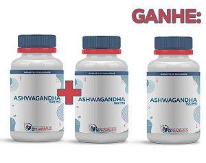 2 Ashwagandha 500mg (60 cápsulas cada) e ganhe 1 - Bpharmus
