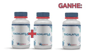 2 Tadalafila 10mg (60 cápsulas cada) e ganhe 1 - Bpharmus