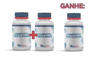 2 Testo Maxx (60 cápsulas cada) e ganhe 1  - Bpharmus