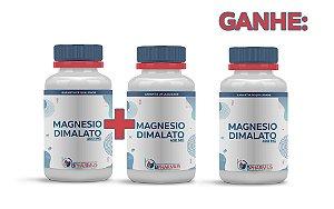 2 Magnesio Dimalato 400mg (60 cápsulas cada) e ganhe 1 - Bpharmus