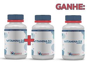 2 Vitamina D3 10.000 UI (60 cápsulas cada) e ganhe 1 - Bpharmus