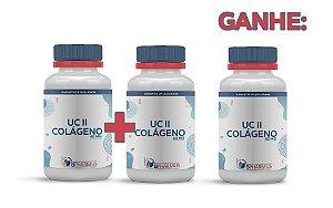2 UC II Colágeno 40mg (60 cápsulas cada) e ganhe 1 - Bpharmus