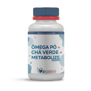 Ômega Pó 800mg + Chá Verde 300mg + Metabolize 300mg - Bpharmus