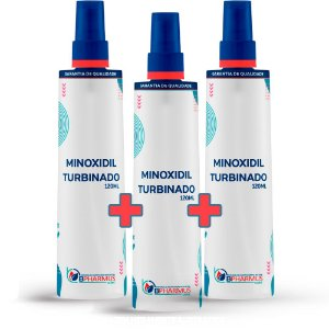 Kit 3 Minoxidil Turbinado (120ml cada) - Bpharmus