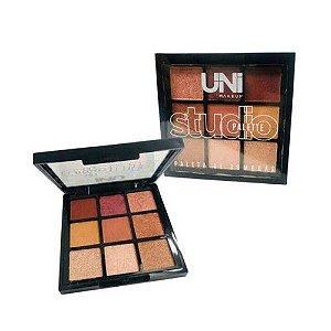 Paleta de Sombras Estúdio Pallete, UNI Makeup - B