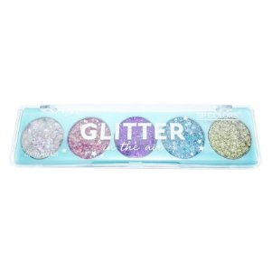 Paleta de Glitter Flocado 5 Cores, SP Colors