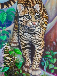 """Gato-maracajá II""- Poster impresso Full color Papel 250 g"