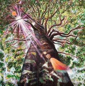 """Angelim-pedra""- Pintura Original em técnica mista 50x50 cm"