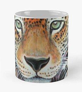 """Caneca grande para chá ou café (325 ml), Edição Especial """"Fauna da Amazônia"""", Modelo """"Onça-pintada da Via Lactea"""""""