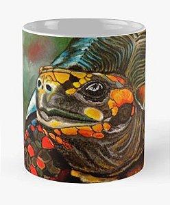 """Caneca grande para chá ou café (325 ml), Edição Especial """"Fauna da Amazônia"""" Modelo """"Jabuti-de-patas-vermelhas"""""""